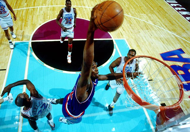 Drafted out of Louisiana State with the first overall pick by the Magic, Shaq almost instantly become one of the league's most powerful and effective centers. He averaged 23.4 points and 13.9 rebounds and in his first season, enough to be named Rookie of the Year. In his first of 15 All-Star Games , Shaq scored 14 points and grabbed 7seven rebounds but the East lost, 135-132 in overtime.