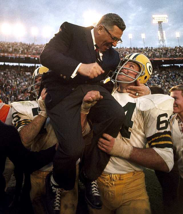 The Packers sent Vince Lombardi off in fashion, defeating the AFL's Oakland Raiders 33-14 in Lombardi's last game as the Packers' head coach.  Three years later the Super Bowl trophy was renamed the Vince Lombardi Trophy in honor of the longtime Packers coach.