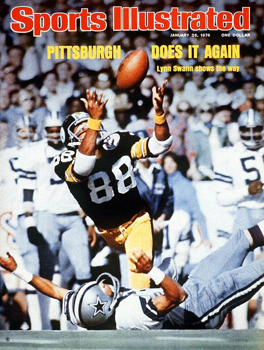 Led by wide receiver Lynn Swann, the Steelers defeated Roger Staubach and the Dallas Cowboys 21-17 in Super Bowl X.  Swann, who many expected not to play due to injury, hauled in four passes for 161 yards and a touchdown and was the first wide receiver to win the Super Bowl MVP award.