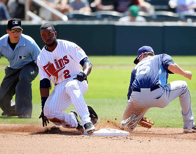 In 2010, Twins outfielder Denard Span became the 43rd person to accomplish the feat in the modern era. He joined a number of Hall of Famers, including Joe DiMaggio, Willie Mays, Ernie Banks and Roberto Clemente. In 1897, Bill Joyce hit four in a game, but that's never been matched. Two players have hit three triples twice: Jim Bottomley and Dave Brain.