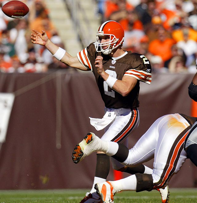 The expansion Browns were expected to grow behind Couch, but the QB failed to improve after a middling rookie season. Cleveland went 22-37 in his starts, and Couch tossed 67 interceptions in his five seasons. Although he wasn't a complete disaster, he lasted only five seasons in the league, and his lack of development held back the franchise.