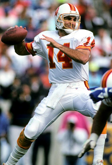 Tampa Bay didn't benefit much from its pick, but Testaverde went on to have a 21-year career as a part-time starter. With the Bucs, he completed only 52 percent of his passes and threw 25 more interceptions than touchdowns as the team sputtered to a 24-48 record. But in his time with six other teams, Testaverde earned two Pro Bowl nods and finished with 275 career touchdown passes.
