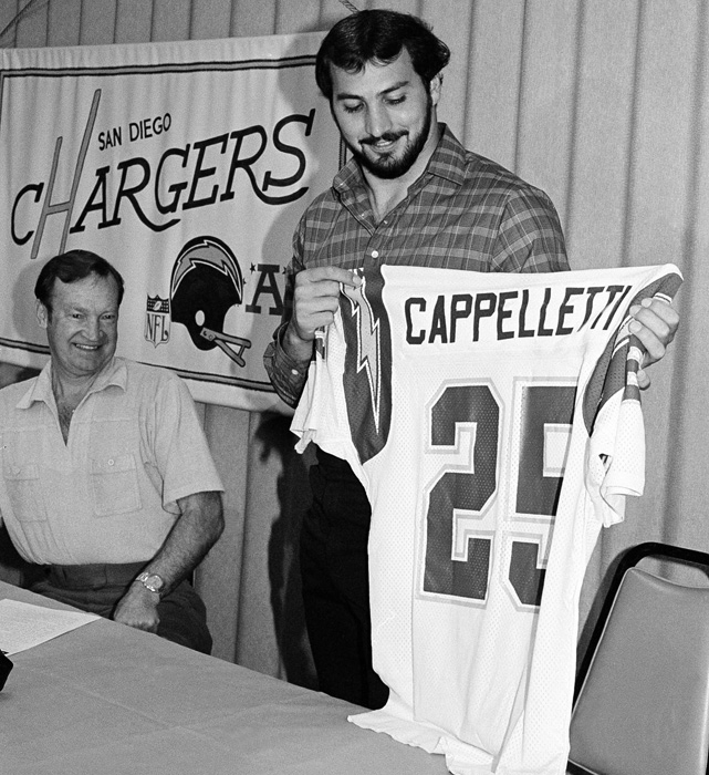 The former Heisman Trophy winner and Los Angeles Ram was traded to the Chargers on draft day for a future first-round pick. The running back had an unspectacular career, playing nine years but never rushing for more than 700 yards in a season.