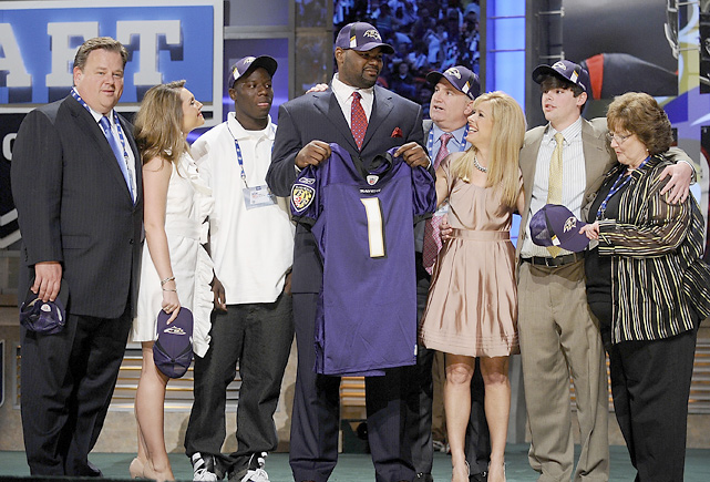 The star of Michael Lewis' best-selling book  The Blind Side  (and the Sandra Bullock movie by the same name), Oher completed his rags-to-riches story by being drafted No. 23 overall by the Ravens. The left tackle has started all 32 career games but has struggled at times with penalties.