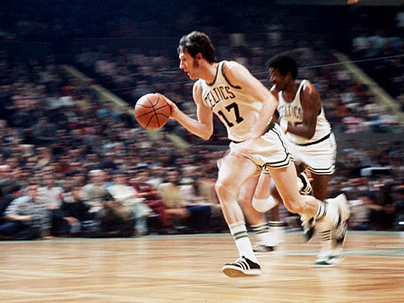This was the seventh of Havlicek's eight titles with the Celtics, who held off Milwaukee in seven games. Havlicek scored 26, 28, 28 and 16 points in Boston's four victories.
