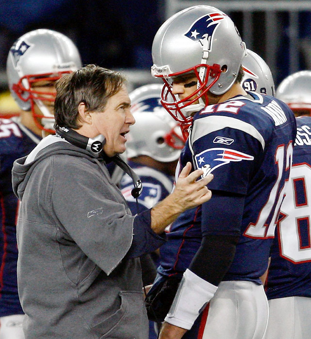 Bill Belichick and Tom Brady already have their names in the NFL record books, but the three-time Super Bowl champions added another achievement to their historic careers on Nov. 13, becoming the winningest coach-QB tandem since the AFC/NFC merger in 1970. With a 37-16 victory over the Jets, Belichick and Brady surpassed Don Shula and Dan Marino for the all-time mark with their 117th win together. The Dolphins duo held the record for 16 years until the Patriots pair accomplished the feat in 35 less games. Belichick and Brady have plenty of company when it comes to legendary coach-QB tandems. Click through our gallery to check out the rest of the winningest duos in history.