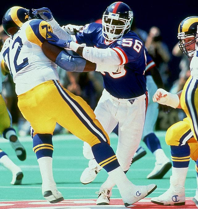 Taylor may have been the most intimidating defensive player the league  has ever seen, especially since he often fired off the ball toward the  quarterback's blindside.   His Credentials:  10-time Pro Bowl selection, 10-time  All-Pro, named to NFL's All-Decade Team for the 1980s, member of NFL's  75th anniversary team, two-time Super Bowl champion, NFL MVP in 1986,  three-time Defensive Player of the Year, Rookie of the Year in 1981,  inducted into Hall of Fame in 1999, ranked No. 3 on NFL's top 100  players of all-time list, ninth all-time in sacks   Others in Consideration:  Calvin Johnson (2007,  Lions); Julius Peppers (2002, Panthers); Donovan McNabb (Eagles, 1999);  Tony Boselli (1995, Jaguars); Marshall Faulk (1994, Colts); Eric  Dickerson (1983, Rams); Tony Dorsett (1977, Cowboys); Randy White (1975,  Cowboys)