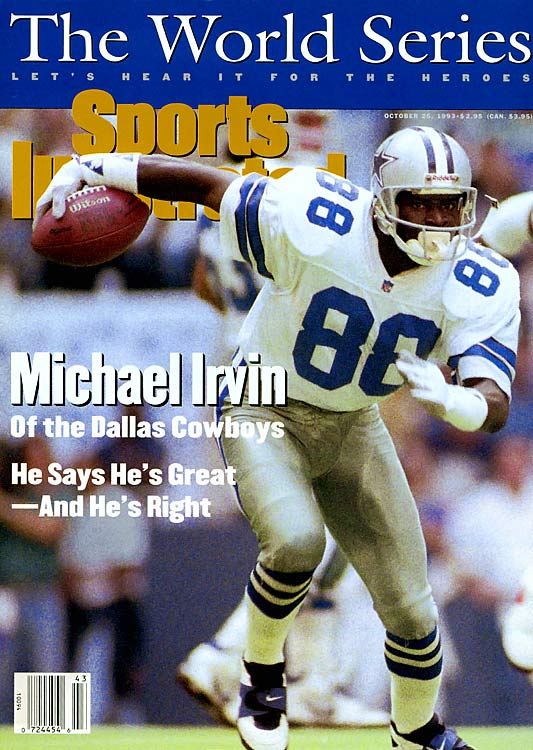 "Irvin was part of the famed ""Triplets,"" with Troy Aikman and Emmitt Smith, that helped make the Cowboys a dynasty in the 1990s.   His Credentials:  Five-time Pro Bowl selection,  three-time All-Pro, three-time Super Bowl champion, named to NFL's  All-Decade Team for the 1990s, finished with 750 career receptions and  65 touchdowns, ranked No. 92 on NFL.com's 100 Greatest Players list,  inducted into Hall of Fame in 2007   Others in Consideration:  Patrick Willis (2007,  49ers); DeMarcus Ware (2005, Cowboys); Ben Roethlisberger (2004,  Steelers); Dwight Freeney (2002, Colts); Wilber Marshall (1984, Bears)"