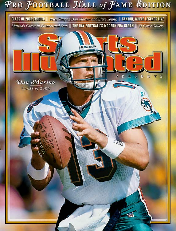 Marino was the first of the NFL's super prolific quarterbacks, 20 years before the league become pass-happy.  He still holds several passing records, including the most games  with more than 400 yards passing (13), the most comeback wins and the  most seasons leading the league in completions (6).   His Credentials:  Nine-time Pro Bowl selection;  eight-time All-Pro; NFL MVP and Offensive Player of the Year in 1984;  Comeback Player of the Year in 1994; 61,361 passing yards, 420  touchdowns in career; Held single-season passing record (5,084) until  2011; Held records for most career yards and touchdowns until 2007;  Holds records for most game-winning drives in the fourth quarter and  overtime (51); Inducted into Hall of Fame in 2005   Others in Consideration:  Roddy White (2005, Falcons); Larry Johnson (2003, Chiefs); Neal Anderson (1986, Bears)