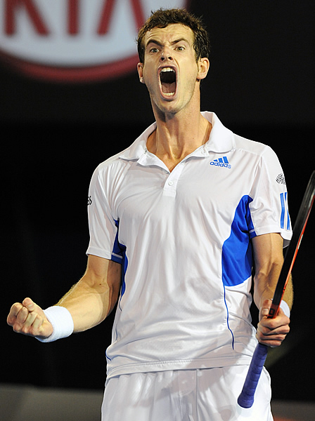Andy Murray was just a little bit excited after this Australian Open victory in 2010.