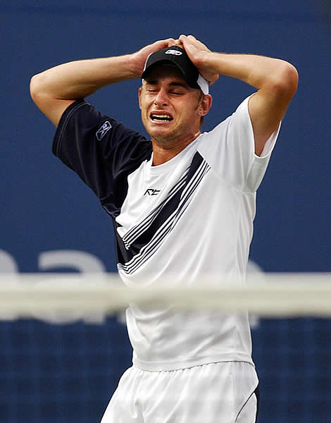This is Andy Roddick's reaction after WINNING the 2007 U.S. Open!