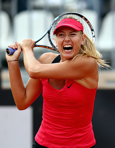 Maria Sharapova can look awfully fierce when she's on the other side of the net.