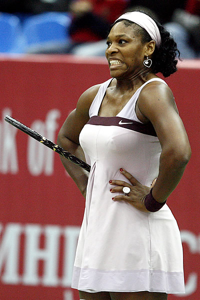 Serena Williams is never one to hide her emotions on the court...