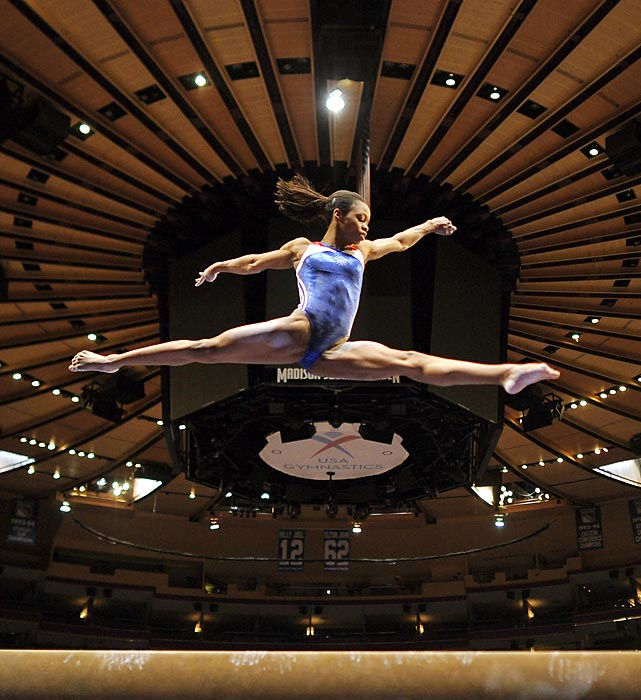 Only months before becoming the all-around Olympic champion, Gabby Douglas competed as an alternate at the AT&T American Cup, posting high enough scores all around to win gold. However, because she was only an alternate, her scores did not count and she did not medal.