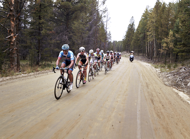 While the USA Pro Cycling Challenge is definitely a road race, the riders were challenged by some sections which made their way over less than smooth terrain.