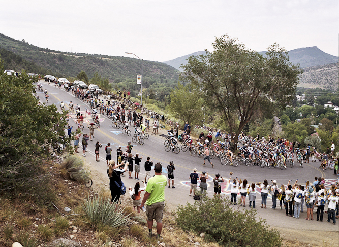Other fans elected to wait on the side of the road to support riders as they navigated some of the tougher climbs.