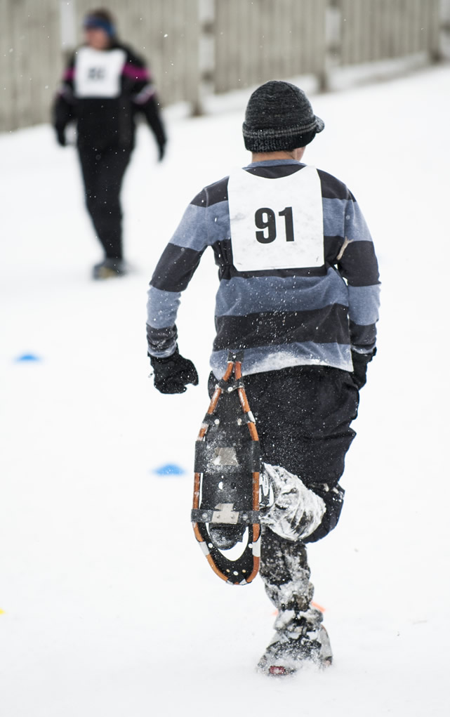 Snowshoeing is a sport that's unique to the Special Olympics, but the endurance races are just as tough and grueling as any traditional Olympic sport.