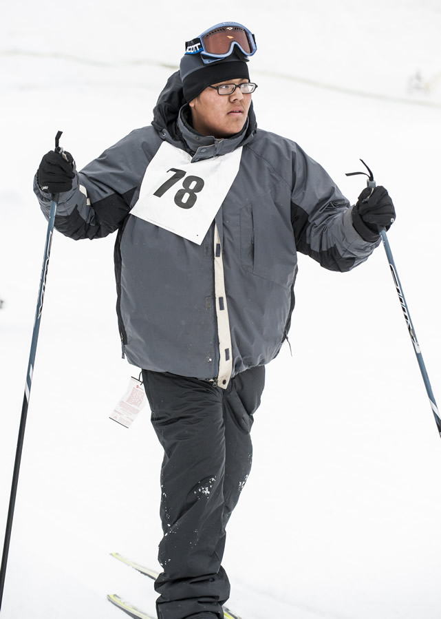 Kyle Yazzie (age 14, Flagstaff, Arizona) is a multi-sport athlete. He'll compete in cross-country skiing in Korea, and also plays basketball.