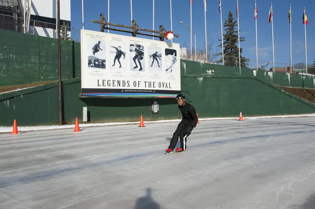 O'Conner trained on Lake Placid's famous Olympic skating oval, where Eric Heiden won his history-making five gold medals in at the 1980 Olympic Games.