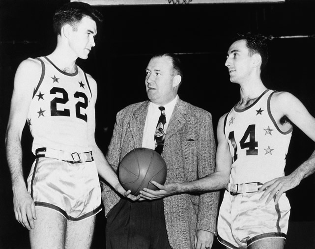 The FIRST All-Star game in NBA history.