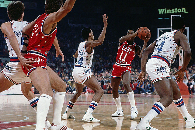 Some of you remember Isiah Thomas as a terrible general manager. Others know him as simply an awful coach. But he was actually a pretty darn good player back in the day, and here he is in one of his 12 All-Star game appearances.