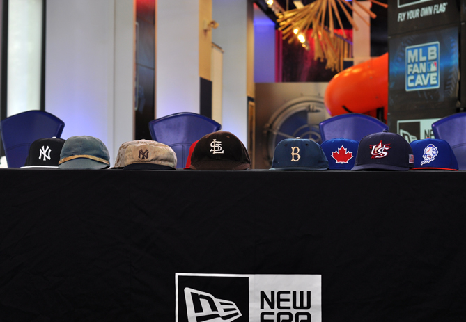"""Baseball cap manufacturer New Era held an event at the MLB Fan Cave on Wednesday, May 29, to promote its Diamond Era collection of hats. But before they could talk about what's new, Erik Strohl of the National Baseball Hall of Fame in Cooperstown explained how we got here.                                                      Strohl brought five historical caps to the Fan Cave that track the evolution of the baseball cap. The five hats represented more than 140 years worth of baseball -- and design -- history. And they highlighted how the baseball cap has gone from on-field equipment to off-field fashion statement.                                                      """"This is perhaps the most ubiquitous piece of clothing in American culture,"""" Strohl said. """"It's come from off the field and into almost every aspect of life."""""""