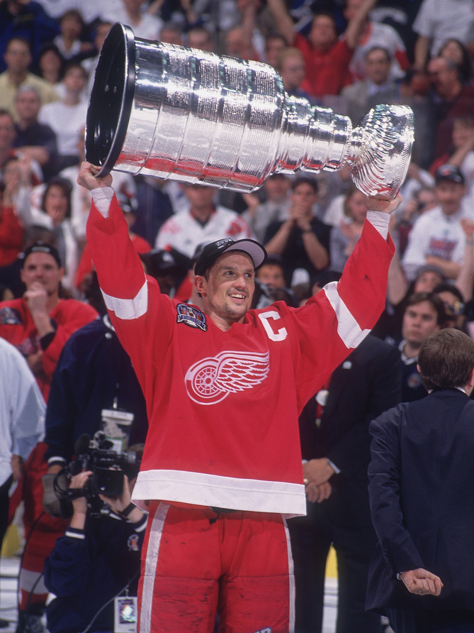 When Steve Yzerman retired from the Detroit Red Wings after the 2006 season, he had served as the team's captain for 19 seasons -- the longest tenure in NHL history. In that time, he led the Wings to three Stanley Cups. He also won the Conn Smythe Trophy in 1998. He'd win another Cup in 2008, this time as a Red Wings executive. Yzerman ranks 10th all-time with 185 playoff points.