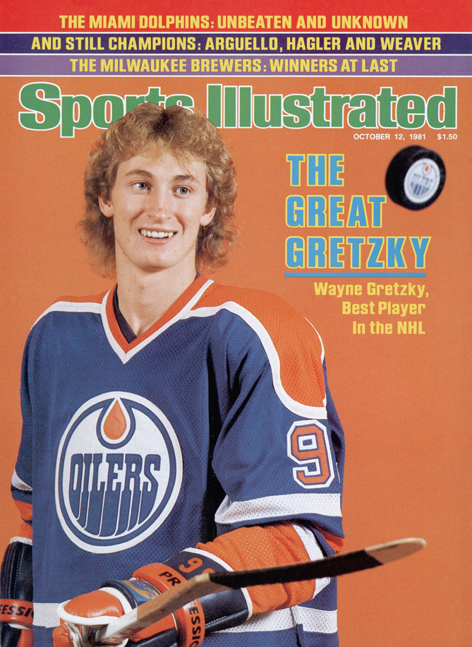 """Wayne Gretzky isn't called """"The Great One"""" for nothing. As the captain of the Edmonton Oilers, Gretzky led the team to four Stanley Cups. He also won two Conn Smythe Trophies as playoff MVP (in 1985 and 1988) and rewrote the history book. Gretzky holds every major NHL record, in the regular season and in the playoffs. In the postseason, he scored 382 points (122 goals, 260 assists), 87 more than the next player on the list."""
