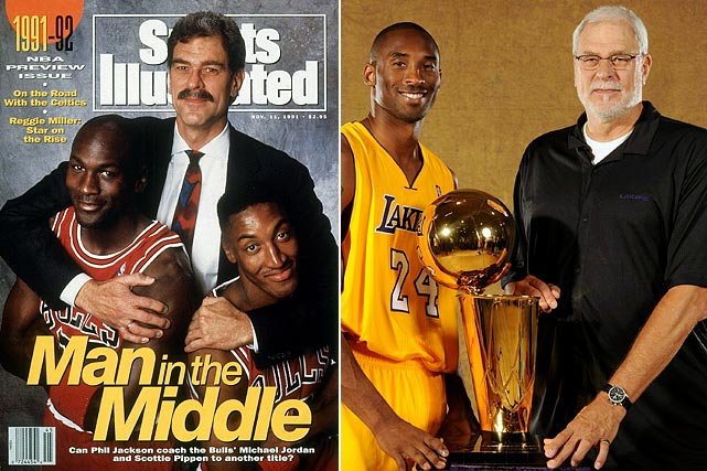 How many rings did Jordan, Bryant, and O'Neal win before they were coached by Jackson? Zero. The Zen Master was able to get his superstars to reach their massive potential, steering the Bulls to six titles in the 1990s and then winning five more with the Lakers in the next decade.