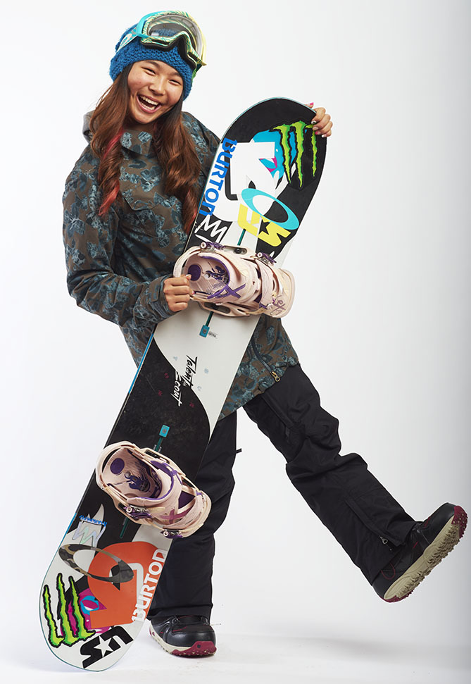 "Before she even turned 13, Chloe had lived abroad, was fluent in two languages, and had hung out with Olympic gold medalists. Oh yeah: She had also already won a world championship and an X Games medal. Chloe — who spent third and fourth grade living in Geneva, Switzerland, where she learned French — became the youngest medalist at a Winter X Games when she won silver in the Women's Snowboard SuperPipe last January and shortly afterward became the youngest ever World Snowboard Tour overall champion. She has become friends with U.S. Olympians Kelly Clark and Kaitlyn Farrington. In fact, she would have joined them at the Sochi Games if she had been old enough. ""She's clearly one of the best developing athletes in winter sports,"" says Rick Bower, head halfpipe coach for the U.S. Snowboard Team. Chloe's goal is to qualify for the 2018 Olympics and make the podium. ""I think I just need to keep enjoying the sport, and everything else will come along,"" says Chloe. And realistically? ""She's got a very good shot at winning,"" says Bower."