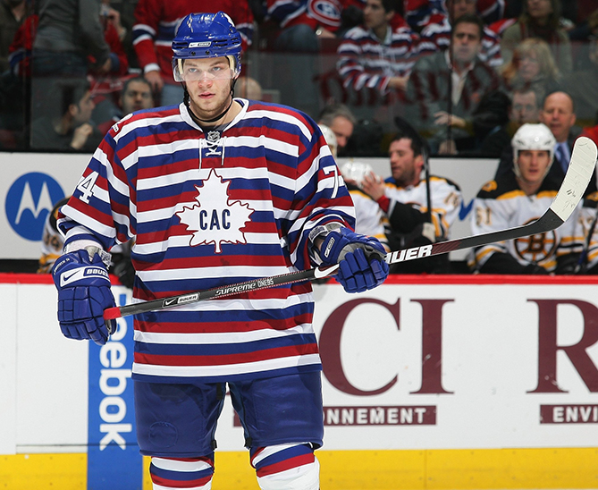 These prison-striped jerseys were an homage to the 1912-13 Canadiens. Montreal wore them once in 2009. That was more than enough.