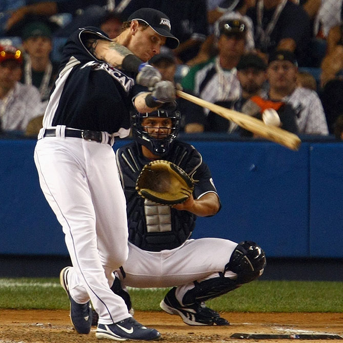 Participated in the Home Run Derby just once, in 2008, but set a record with 28 homers in one round