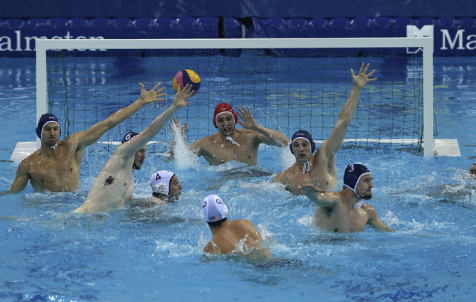 If you're not near an ocean, lake, or river, hit the pool for a spirited game of water polo. Fights were very common and water polo in general was much more violent during its beginnings than it is today, so try to make sportsmanship a priority when you jump in a pool to play!