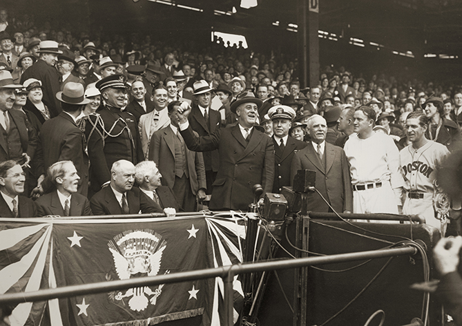 "President Roosevelt threw a whopping 10 first pitches — more than any other president in history — and attended a total of 11 games, 10 in Washington and one in New York. On July 7, 1937, he became the first president to attend an All-Star Game. FDR was another big fan of the game. And, like Hoover, thought baseball was best when it was exciting. ""I'm the kind of fan who wants to get plenty of action for my money,"" he said. ""I get the biggest kick out of the biggest score - a game in which the hitters pole the ball into the far corners of the field, the outfielders scramble and men run the bases."""