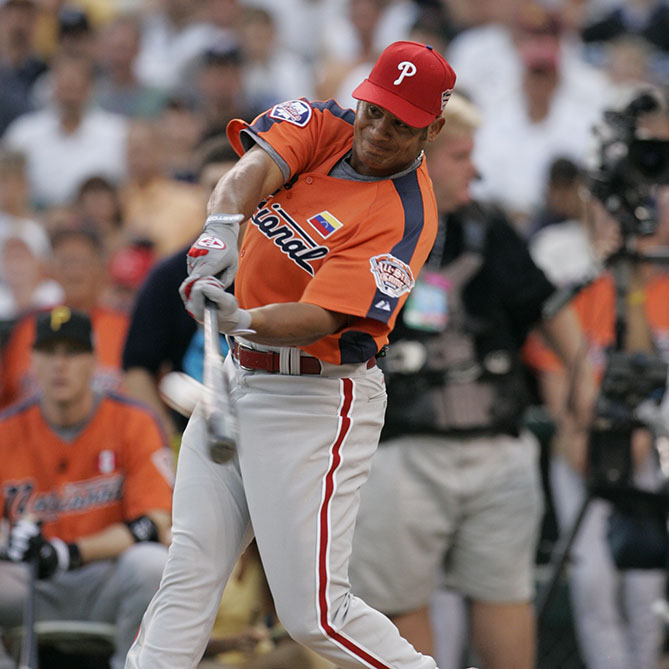 Participated in just one Home Run Derby, in 2005, but bashed a record 41 homers, more than in any of his seasons as a player