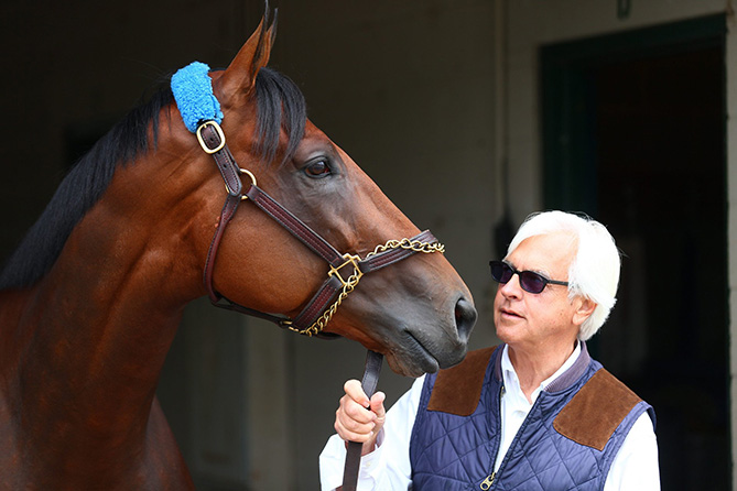 Pharoah is in the capable hands of trainer Bob Baffert, who has brought three horses to New York with a chance to win the Triple Crown, and who, in 1997 and '98, missed by a total of less than a length with Silver Charm and Real Quiet. American Pharoah will be the only horse in the Belmont to have run in all three Triple Crown races.
