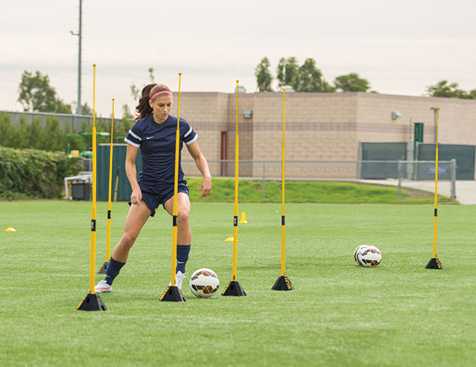 Alex Morgan perfects her touch on the SKLZ Pro Training System