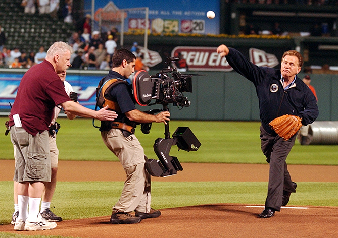 "The presidential first pitch is so important to the ceremonial role of the office that even our fake presidents get in on the action! Actor Martin Sheen played President Jed Bartlet on the TV show ""The West Wing,"" and in one episode he throws out the first pitch at a Baltimore Orioles game."