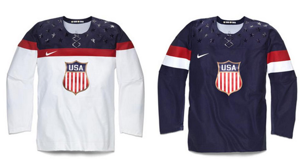 Nike and Team USA Reveal 2014 Olympic Hockey Jerseys  c481b6b4937