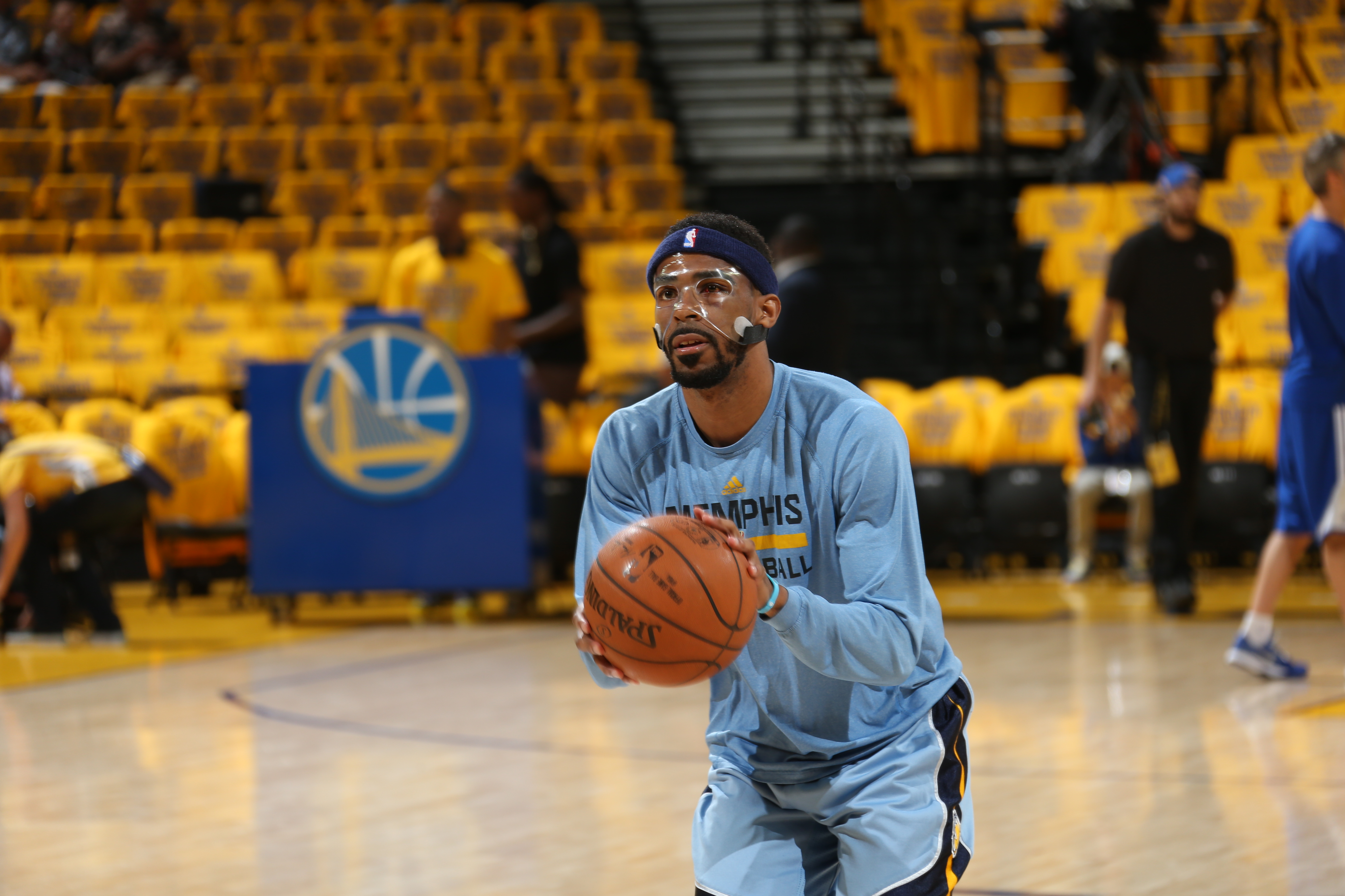 OAKLAND, CA - MAY 3:  Mike Conley #11 of the Memphis Grizzlies shoots the ball before the game against the Golden State Warriors during Game One of the Western Conference Semifinals during the NBA Playoffs on May 3, 2015 at Oracle Arena in Oakland, Califo