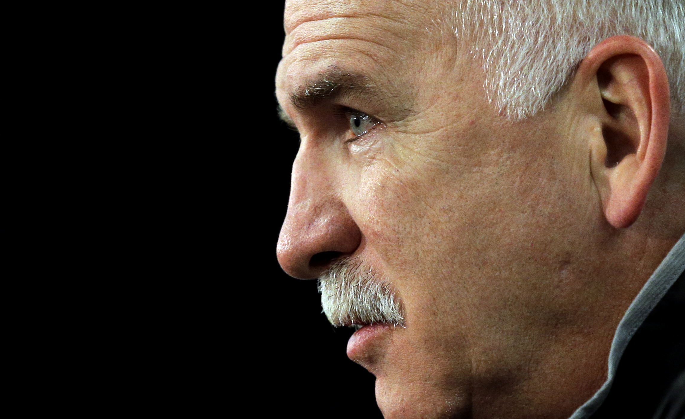 Chicago Blackhawks head coach Joel Quenneville listens to questions during a news conference, Sunday, June 7, 2015, in Chicago. The Blackhawks and the Tampa Bay Lightning are tied 1-1 in the NHL hockey Stanley Cup Final after the Tampa Bay Lightning defea
