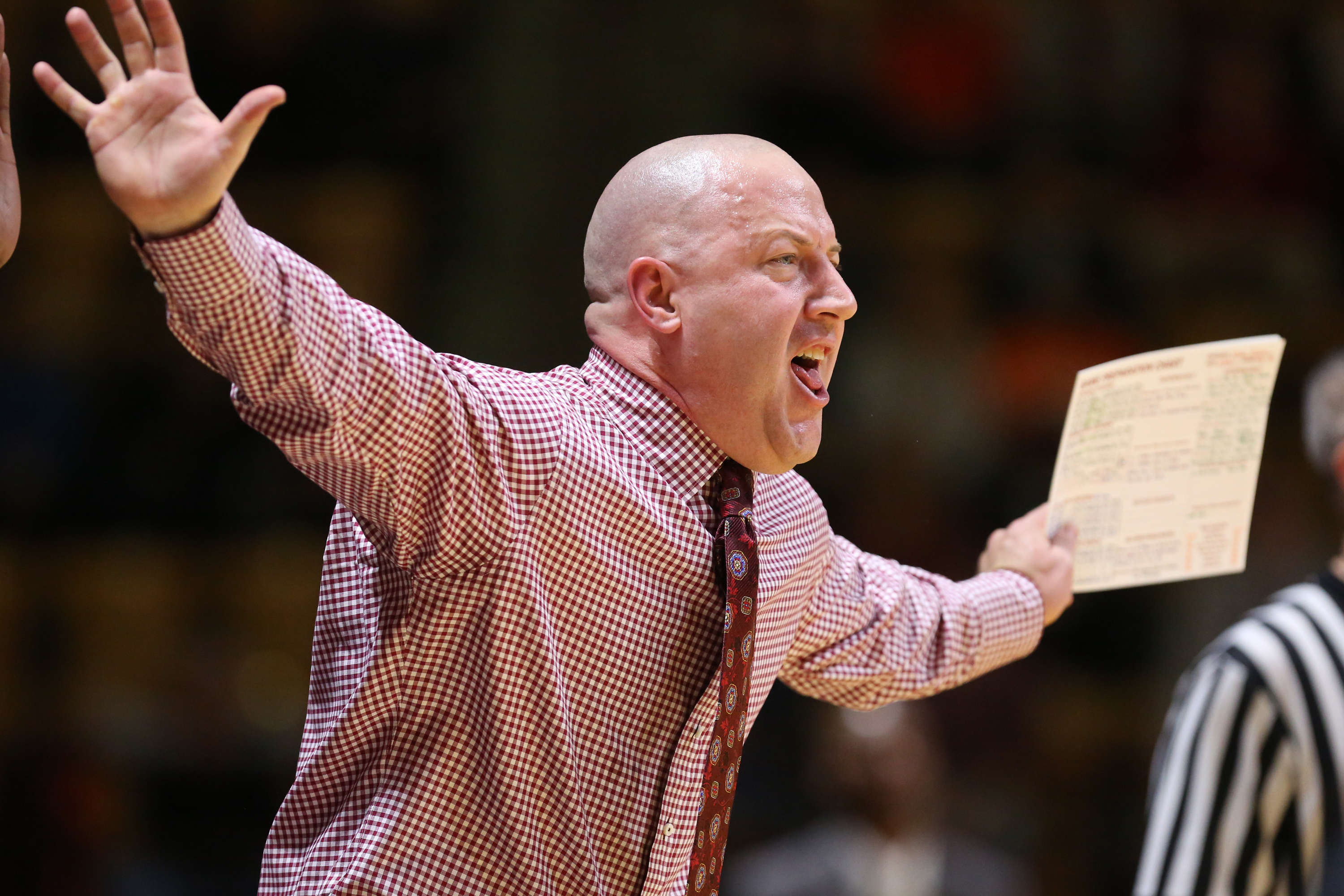 Virginia Tech head coach Buzz Williams yells from the sideline during an NCAA college basketball game against Wake Forest in Blacksburg Va., Wednesday, Jan. 13, 2016. (Matt Gentry/The Roanoke Times via AP) LOCAL TELEVISION OUT; SALEM TIMES REGISTER OUT; F