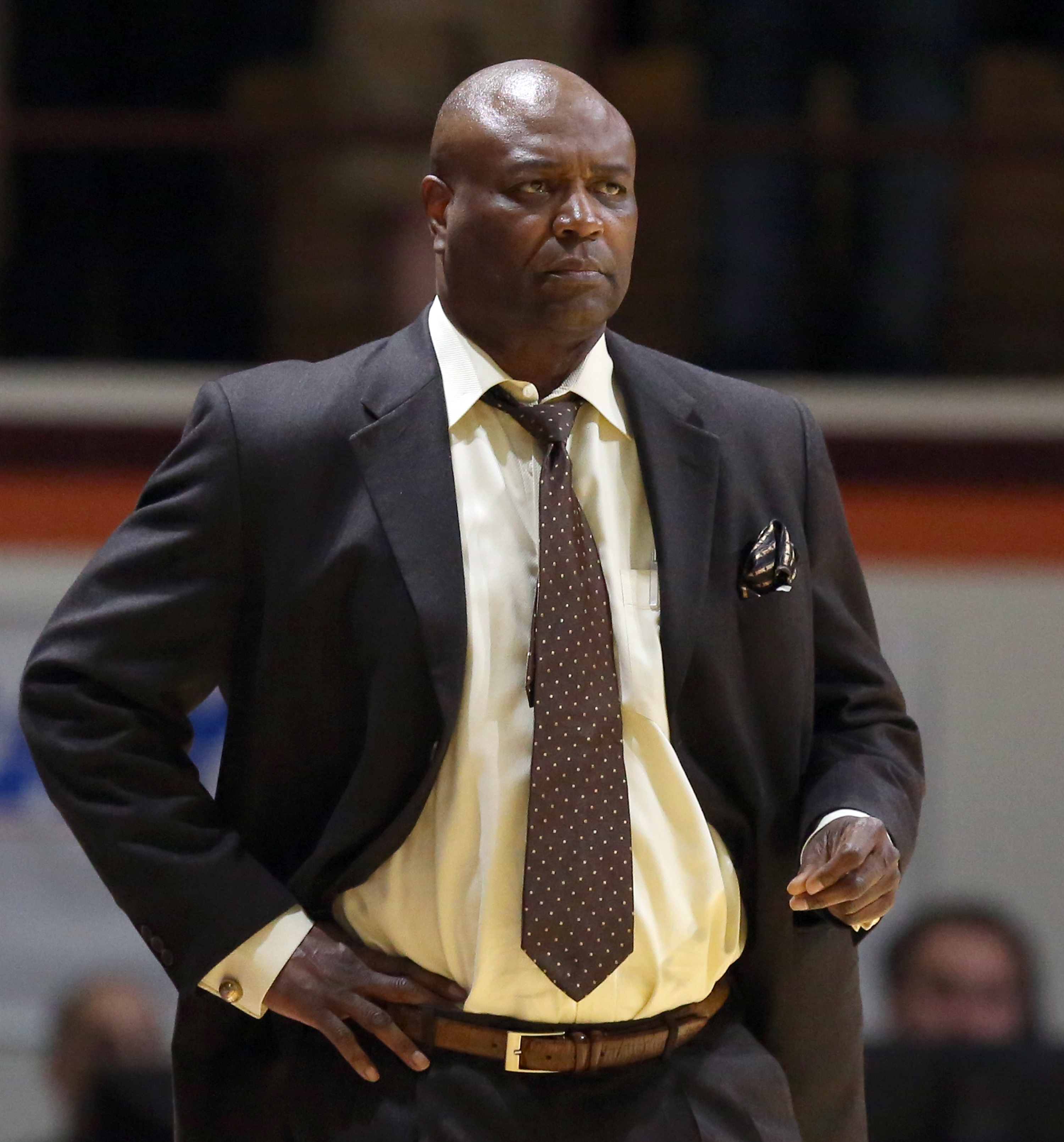 Florida State head coach Leonard Hamilton watches from the bench in the first half of an NCAA college basketball game against Virginia Tech in Blacksburg, Va. Saturday, Feb. 20 2016. (Matt Gentry /The Roanoke Times via AP) LOCAL TELEVISION OUT; SALEM TIME