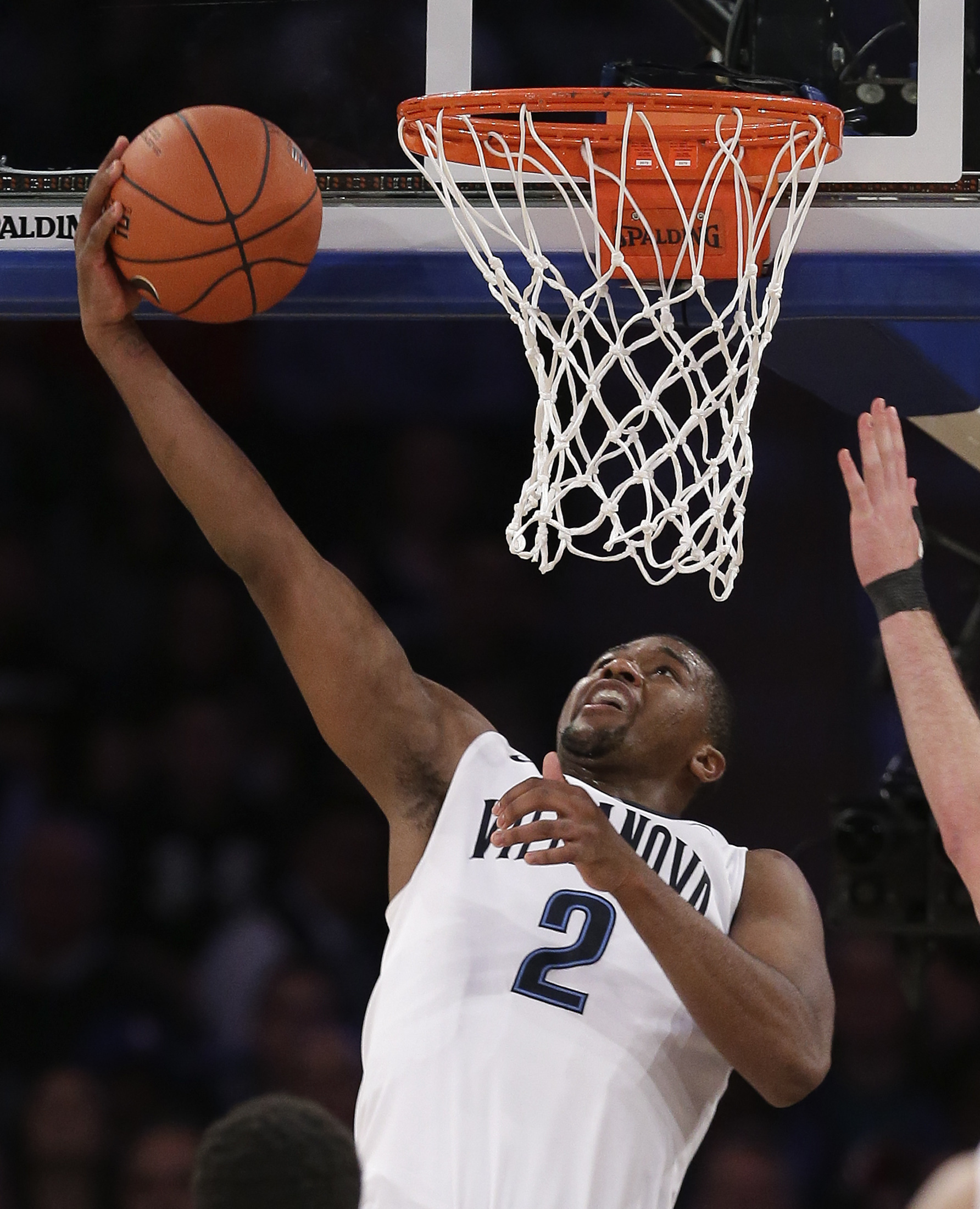 Villanova forward Kris Jenkins (2) goes up to dunk against Providence in the second half of an NCAA college basketball game during the semifinals of the Big East men's tournament, Friday, March 11, 2016, in New York. Villanova won 76-68. (AP Photo/Julie J