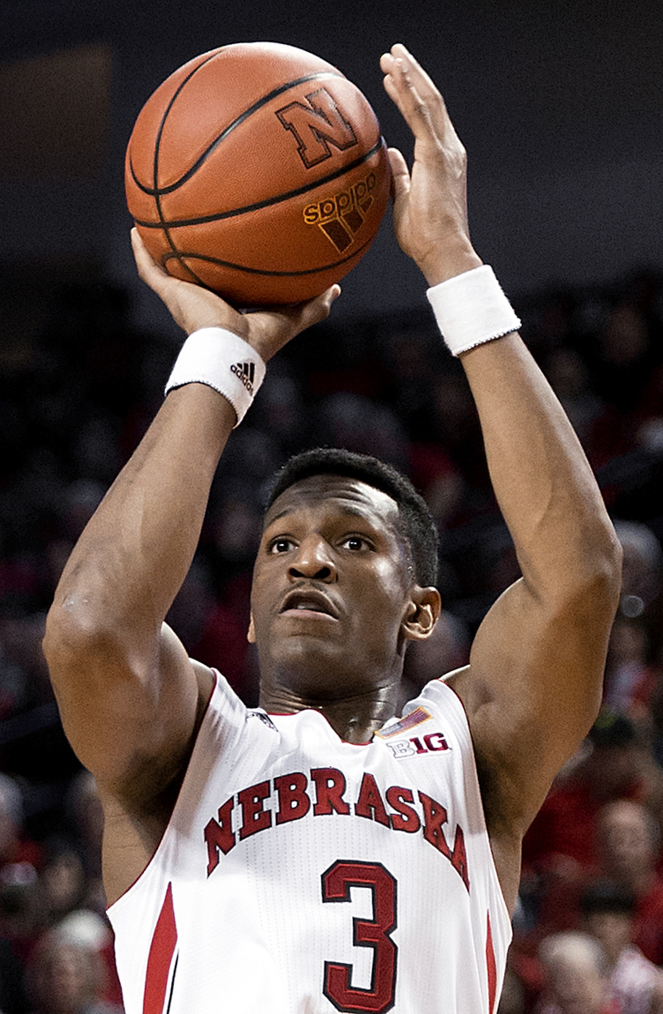 FILE - In this Jan. 2, 2016, file photo, Nebraska guard Andrew White shoots during the second half of an NCAA college basketball game against Indiana in Lincoln, Neb. White is declaring for the NBA draft, but he's not hiring an agent so he can maintain hi