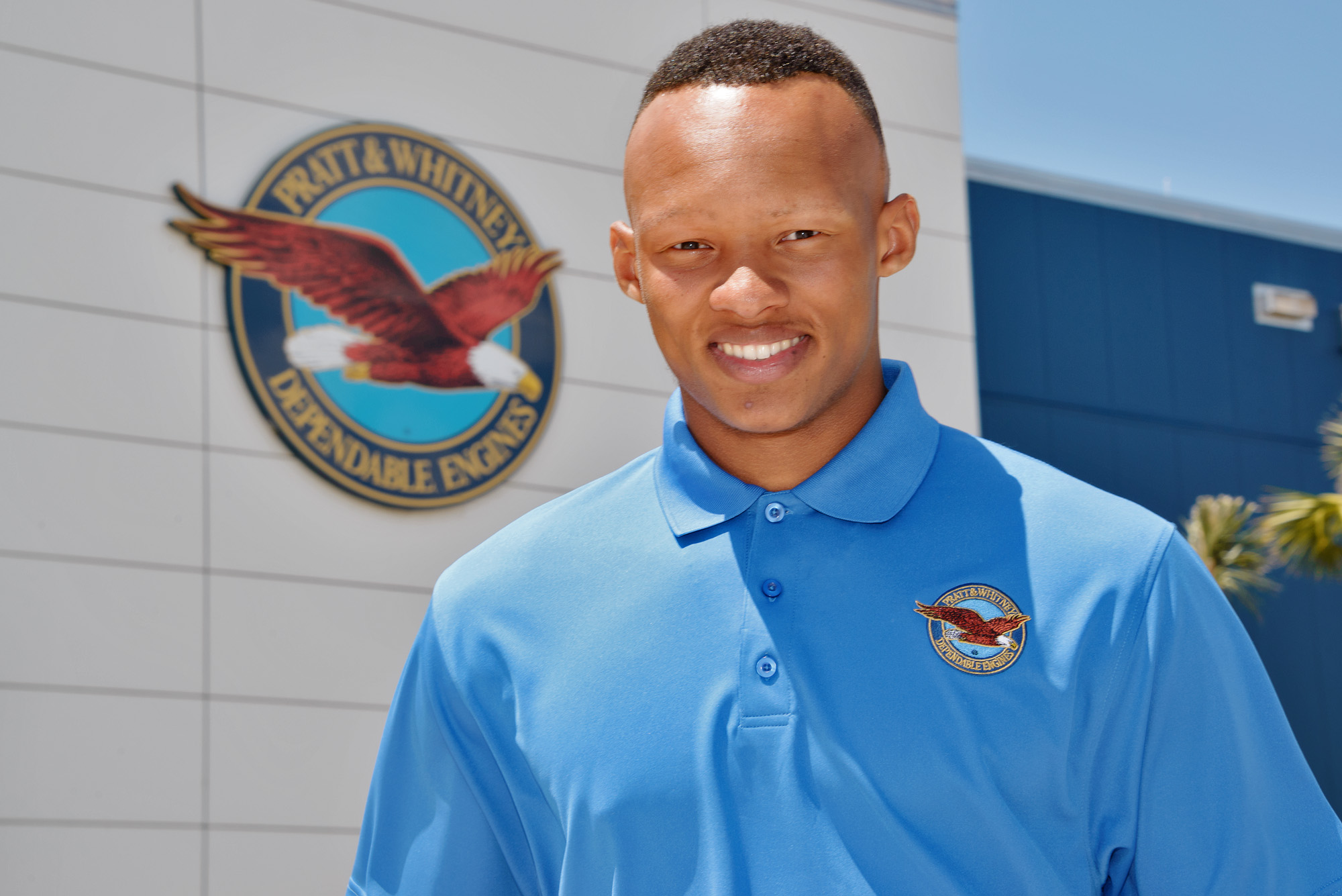 In this May 27, 2015 photo provided by Pratt & Whitney, Tennessee quarterback Joshua Dobbs is shown at the Pratt & Whitney facility in West Palm Beach, Fla. Dobbs traveled to the facility in May to work an internship testing aircraft engines at Pratt & Wh