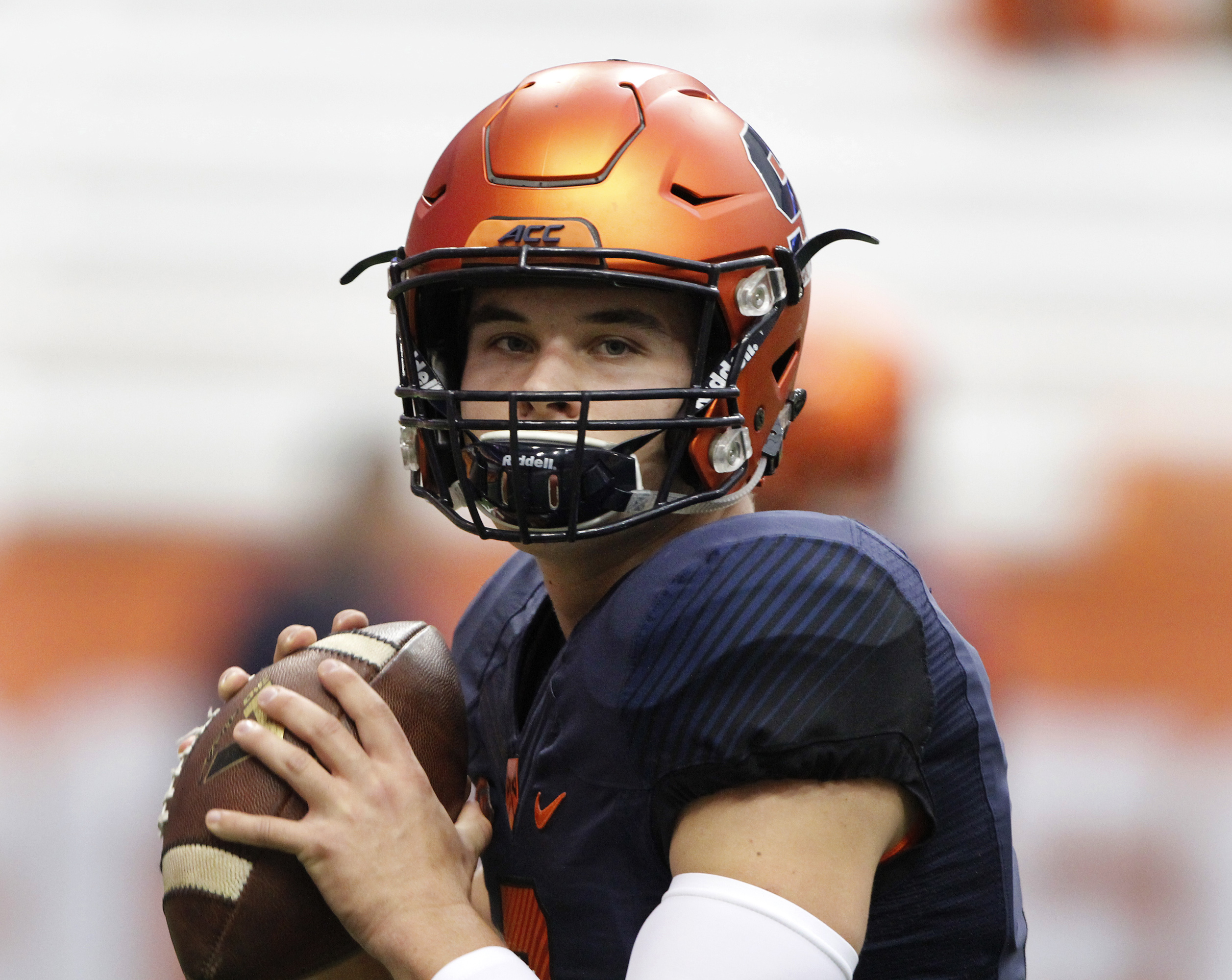 Syracuse's Eric Dungey passes the ball before an NCAA college football game against Pittsburgh in Syracuse, N.Y., Saturday, Oct. 24, 2015. (AP Photo/Nick Lisi)