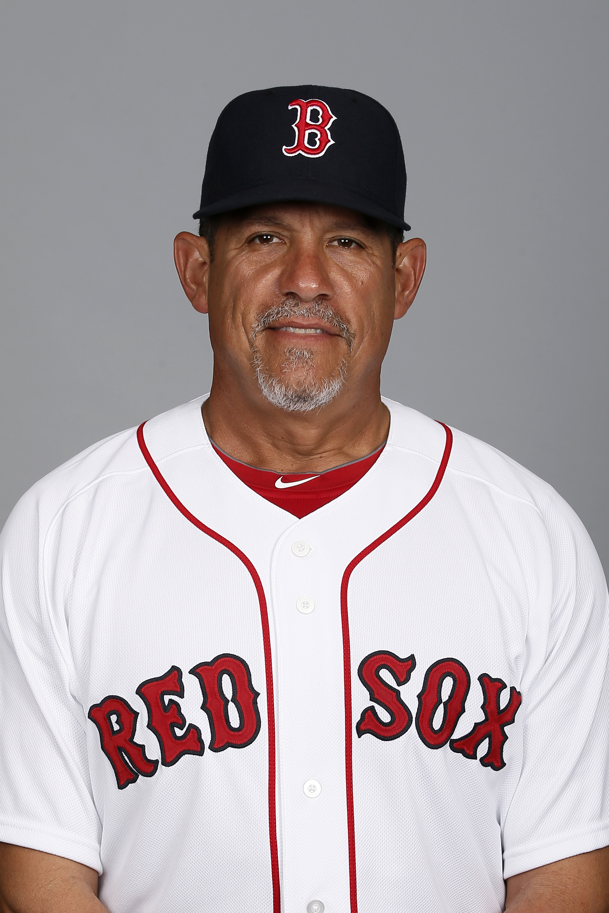 This is a 2015 photo of Boston Red Sox pitching coach Juan Nieves of the Boston Red Sox baseball team. This image reflects the Red Sox active roster as of Sunday March 1, 2015, when this image was taken. (AP Photo/Tony Gutierrez)