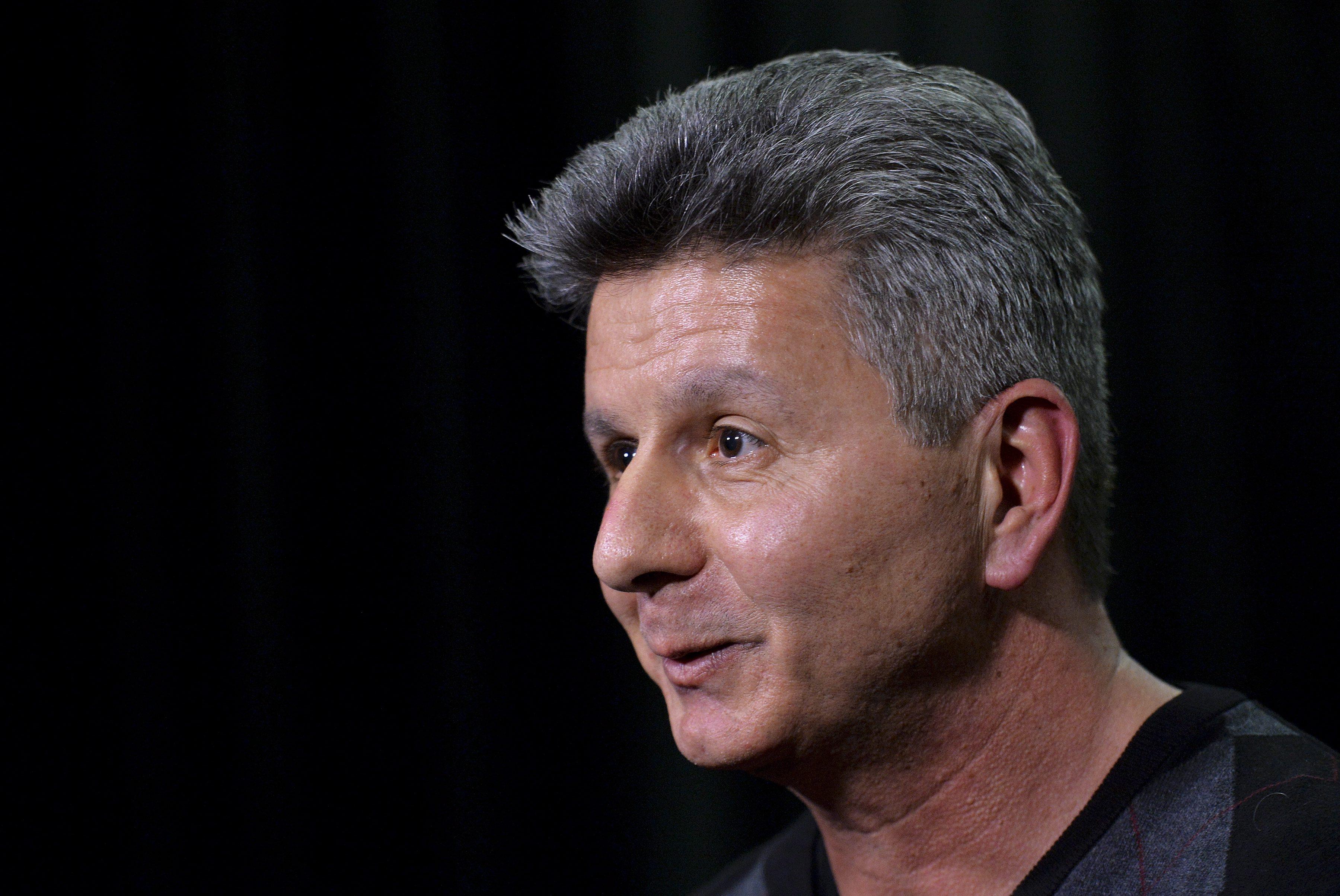 Toronto Blue Jays new interim general manager Tony LaCava speaks to the media in Toronto on Monday, Nov. 2, 2015.  (Nathan Denette/The Canadian Press via AP)