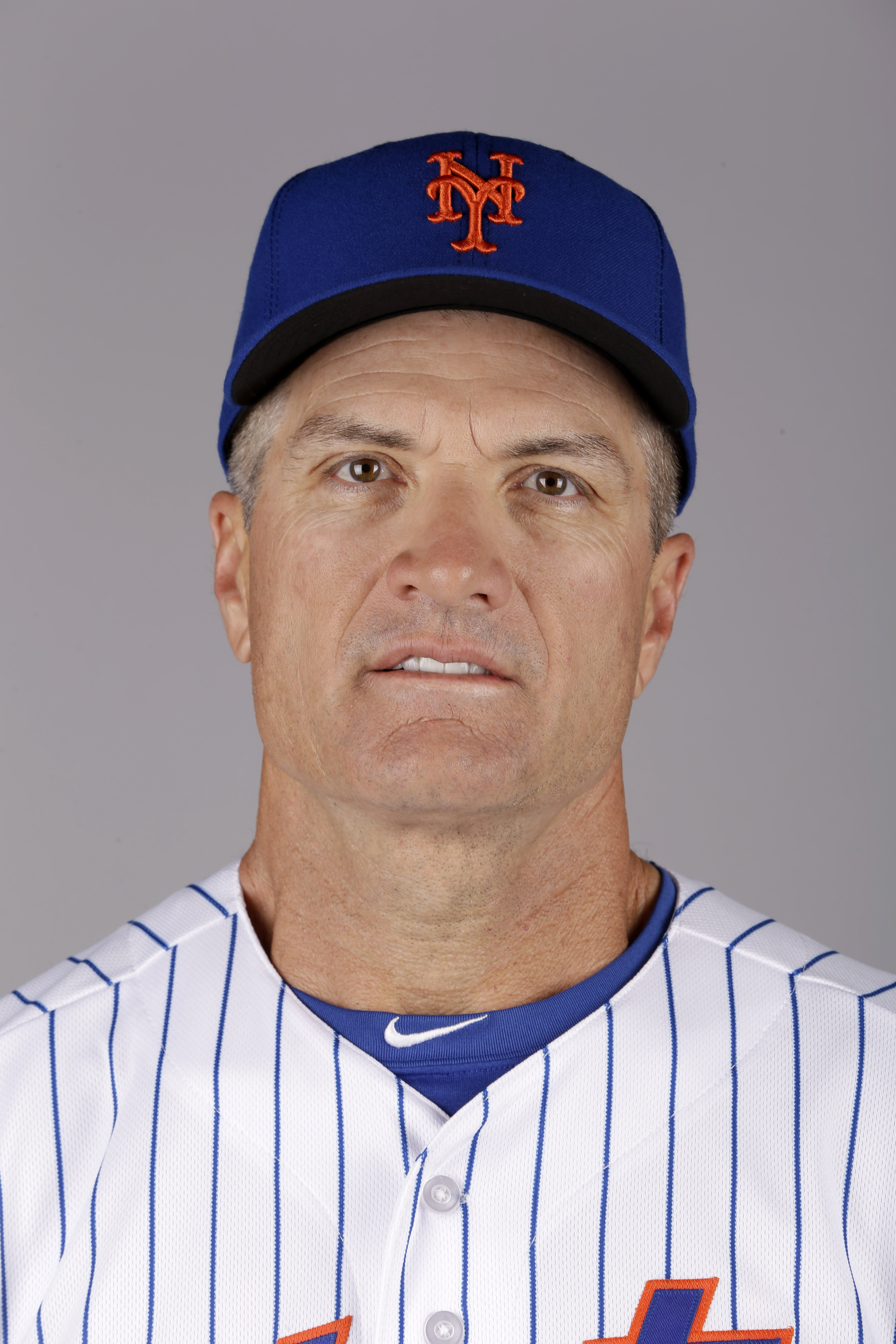 This is a 2015 photo of Bob Geren of the New York Mets baseball team. This image reflects the Mets active roster as of Saturday, Feb. 28, 2015, when this image was taken. (AP Photo/Jeff Roberson)